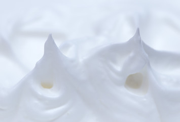background whipped whites with sugar