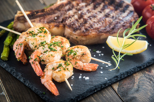 surf and turf plate