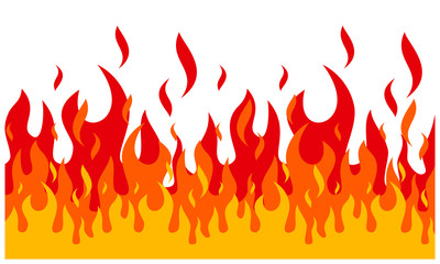 Fire flame background. fire banner. Vector illustration.