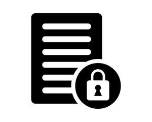 black computer lock secure protect image vector icon logo symbol