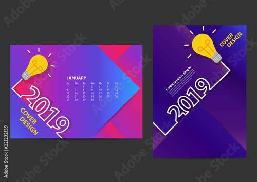 creative light bulb ideas 2019 new year design template for brochure annual report magazine