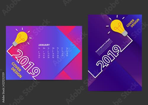 creative light bulb ideas 2019 new year design template for brochure annual report magazine