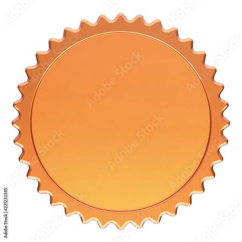 Award medal winner golden badge blank template champion success award medal winner golden badge blank template champion success icon round circle 3d illustration maxwellsz
