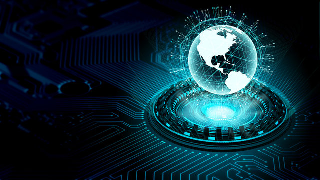 Internet big data and information technology concept