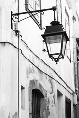 Old street lantern in European street