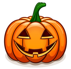 Vector pumpkin with smile face
