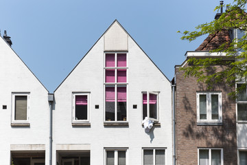Dutch Architecture With Duvet Hanging Out