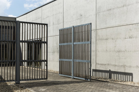 Modern Entry Gate Of Factory