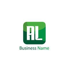 Initial Letter AL Logo Template Design