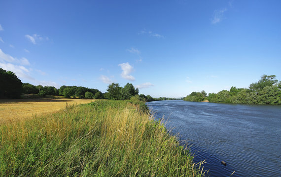 Seine river bank in the Vexin regional nature park