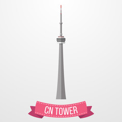 CN Tower icon on white background