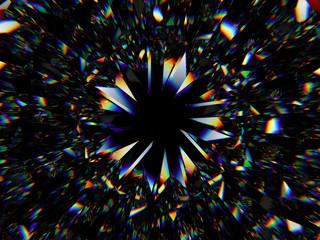 Gemstone structure extreme closeup and kaleidoscope