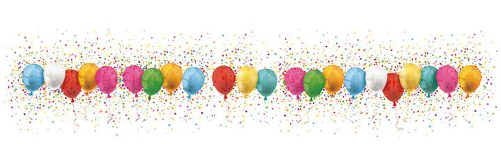Header Colored Balloons Confetti