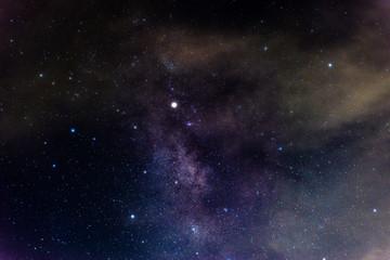 Milky way galaxy with nebula and stars