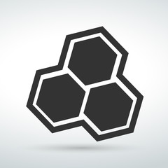 Line icon Molecule isolated  on a white background