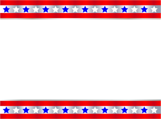 United States flag symbol frame banner border with blank space for your text and images.