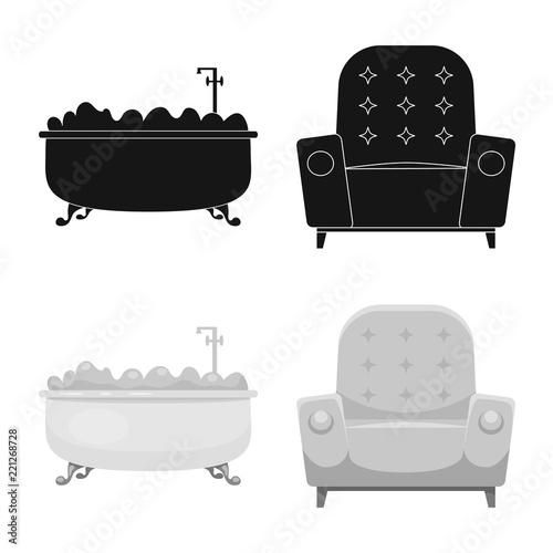 Outstanding Vector Illustration Of Furniture And Apartment Sign Cjindustries Chair Design For Home Cjindustriesco
