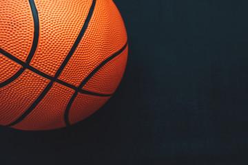 Basketball on dark background
