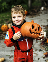 Little boy dressed up for Halloween