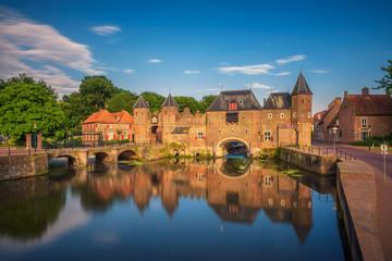 Medieval town gate in Amersfoort, Netherlands