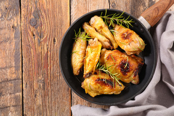 grilled chicken and rosemary