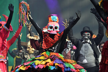 Dia de los Muertos carnival. Day of The Dead parade