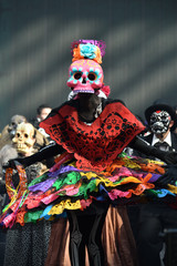 Dia de los Muertos carnival. Day of The Dead parade