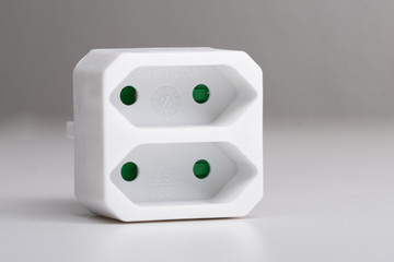double socket - white