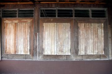Vintage Thai style wooden window.