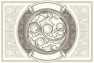 Vintage decorative ornate card