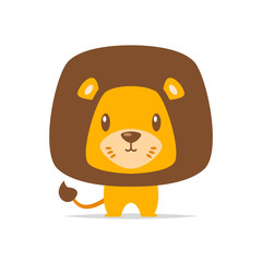 Cute lion vector isolated