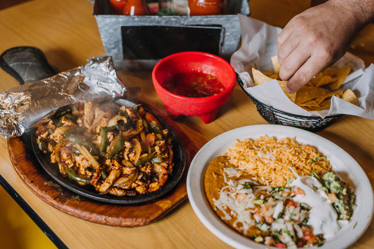 Eating mexican food