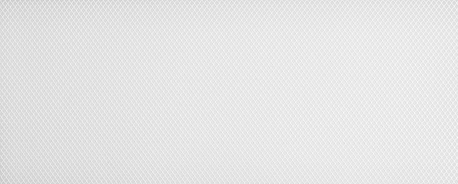 Horizontal plastic grid white background. Whte background