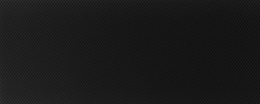 Horizontal plastic grid white background. Black background