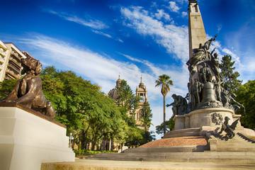 Photo sur Toile Brésil Porto ALegre, Brazil: the Júlio de Castilhos Monument to the center of Matriz Square (Praça da Matriz) , Porto Alegre, Rio Grande do Sul, Brazil