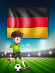 A German soccer player
