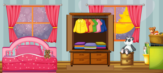 A child bedroom template