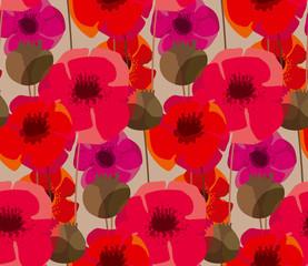 Pré de fleurs de pavot de forme naturelle minable