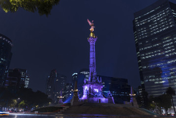 Buildings and monuments of the City of Mexico Papier Peint