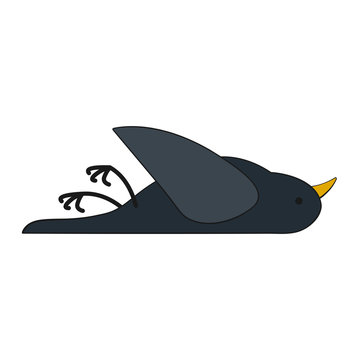 Dead Bird filled outline icon