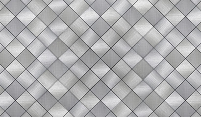 Tiled Metal Texture (3d illustration)