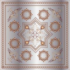 beautiful arabesque background ornament metall