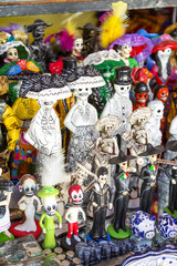 Wall Mural - Crafts in typical Mexican market.