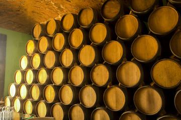 Fototapete - Wine barrels