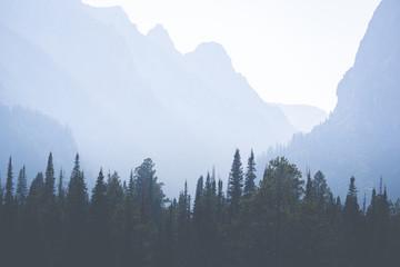 Aluminium Prints Blue sky Haze in the Canyon