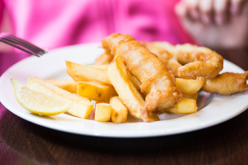 Traditional English Food such as Fish and Chips