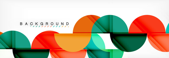 Semi circle abstract background, modern geometric pattern design. Business or technology presentation design template, brochure or flyer pattern, or geometric web banner