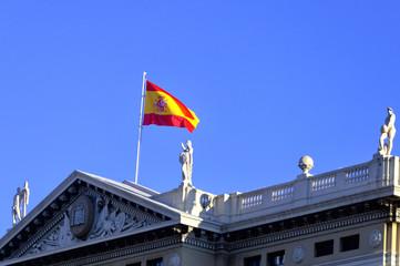 Spanish Flag in Barcelona.