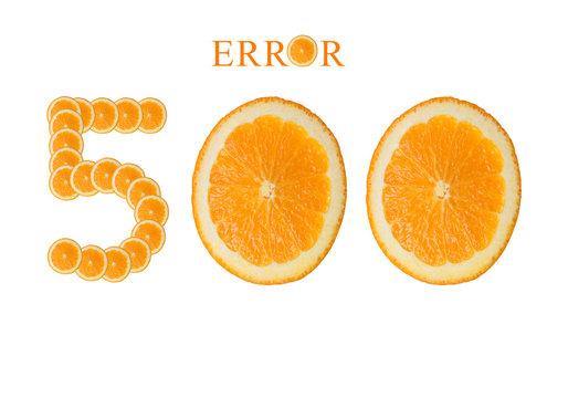 Web page 500 Internal Server Error