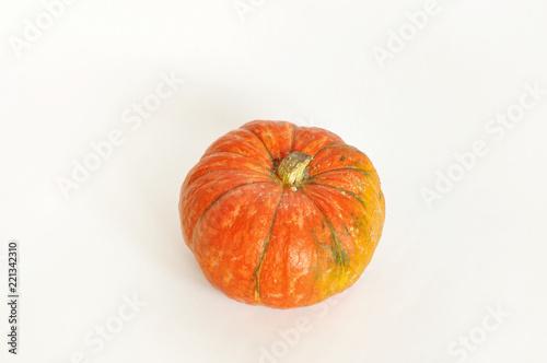 Isolated Photo Of Pumpkin Orange Pumpkin On The White